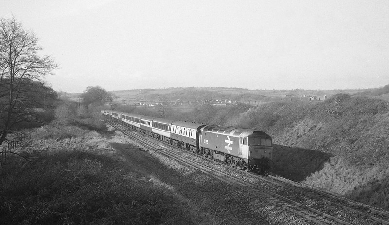 47455, Penzance-Glasgow, Cornish Scot, Whiteball, 14-1-88.