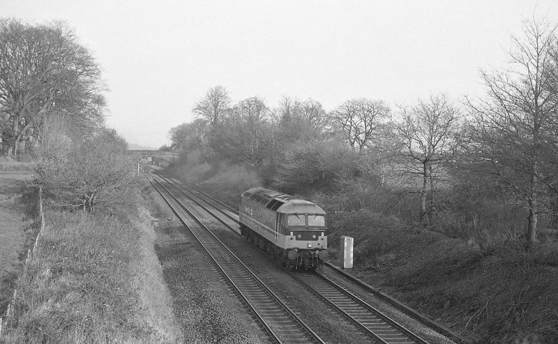 47606, down light from Tiverton Loops, Willand, near Tiverton, 13-1-88.