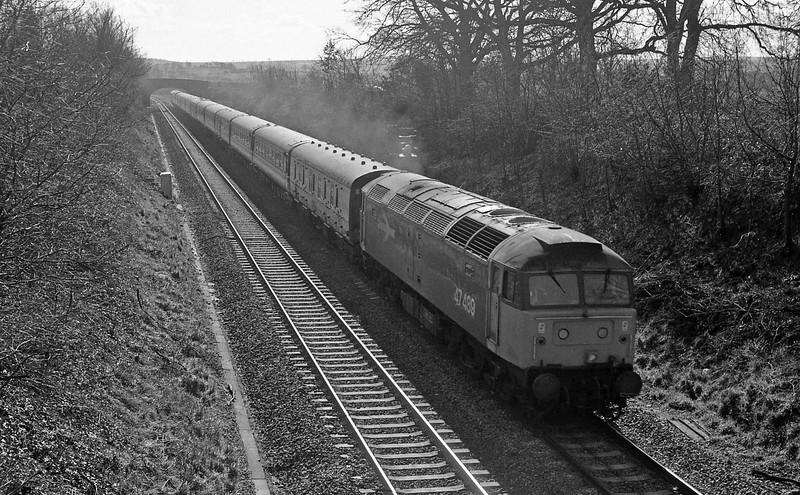 47489, up, Willand, near Tiverton, 1-3-88.