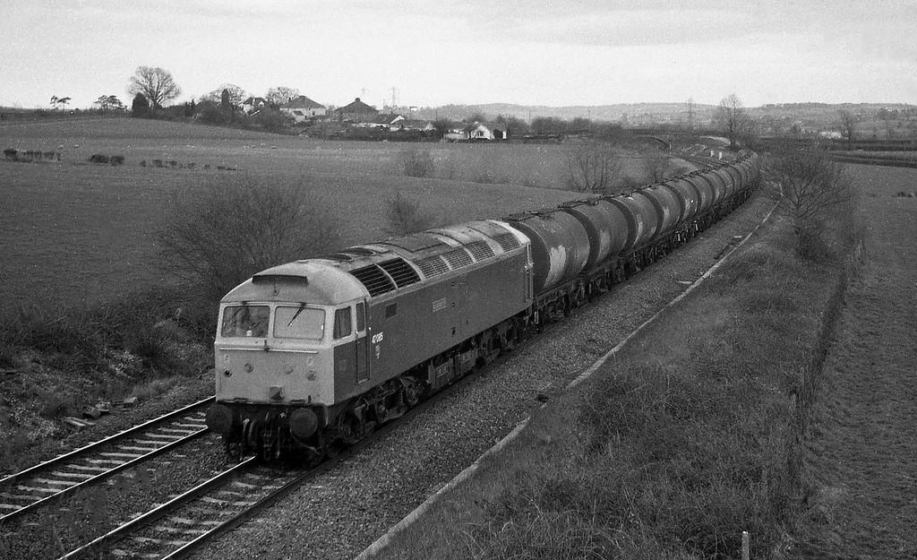 47085, up tanks, Willand, near Tiverton, 8-3-88.