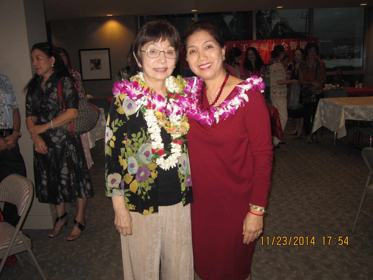 The new President Kathy with Li May