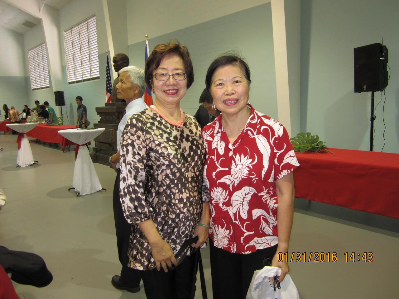Flora with her friend Sue
