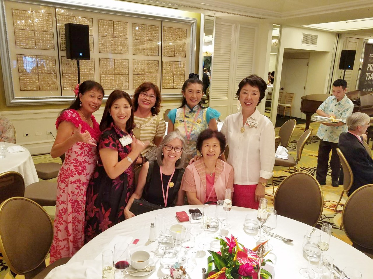 I think these are pics from Bob' camera: SJ - Li May - Lisa - Elizabeth - Jennie, Susan & Mrs. Liao