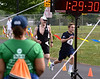 Jack Pilling, Fort Washington, right, puts on a burst of speed as he nears the finish line of the Upper Dublin Triathlon Sunday, May 17, 2015. Photo by Bob Raines