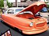 Kerry Duke brought his aerodynamically designed 1951 Nash Statesman to the Ambler Auto Show Saturday, May 16, 2015.  photo by Bob Raines
