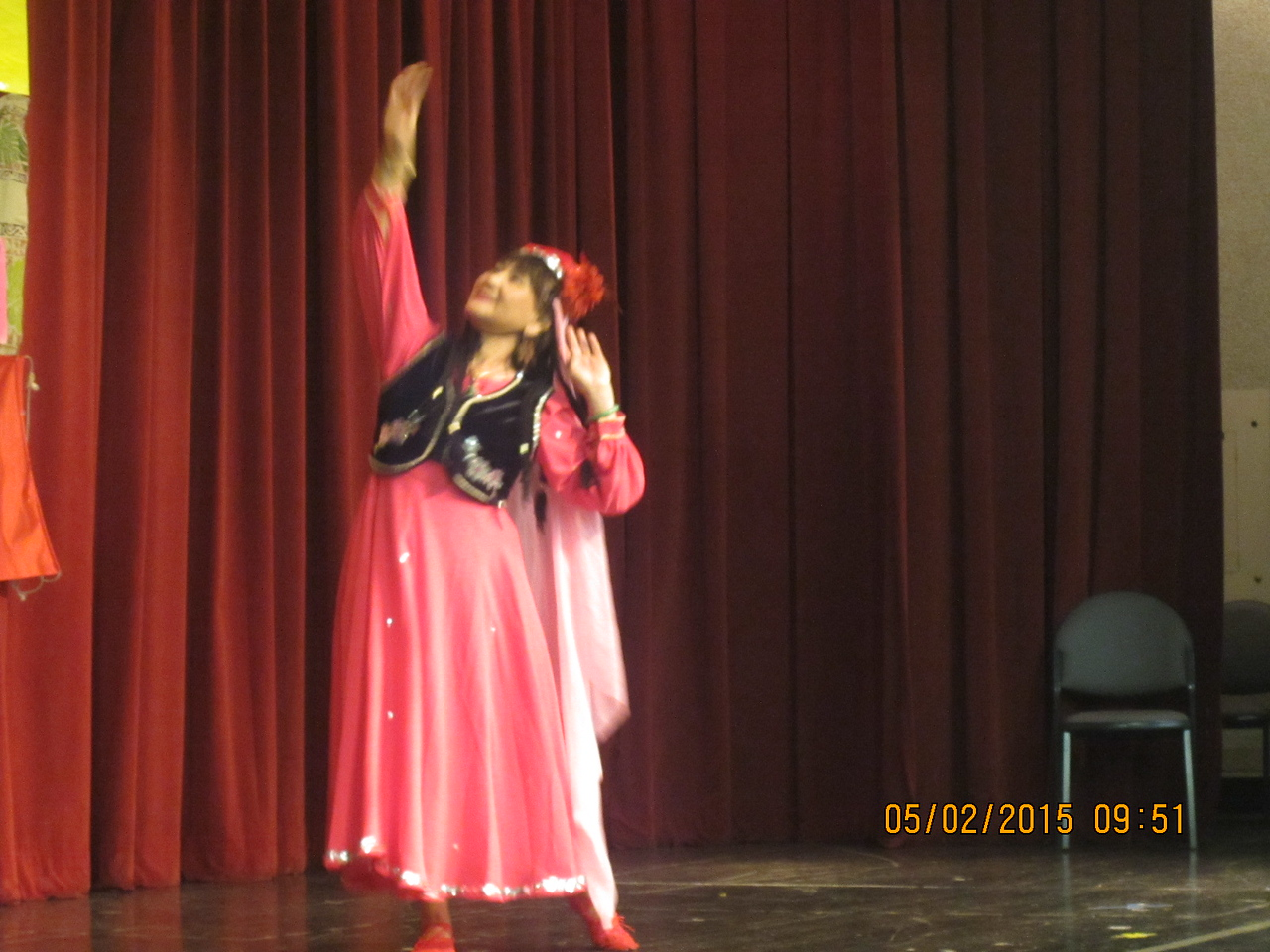 Christine did the classical Chinese dance