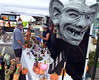 Fantasy art by Gary A Rothera  is displayed along Main St during the 26th Annual Manayunk Arts Festival on Saturday June 20,2015.  Photo  by Mark C. Psoras