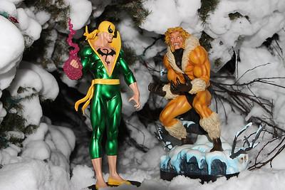 Bowen Designs Iron Fist vs Sabretooth Statues