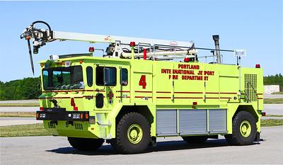 Red 4.  2001 Oshkosh T1   1250 / 3000 / 1500 Foam / 500 lbs Halon / 55' Snozzle