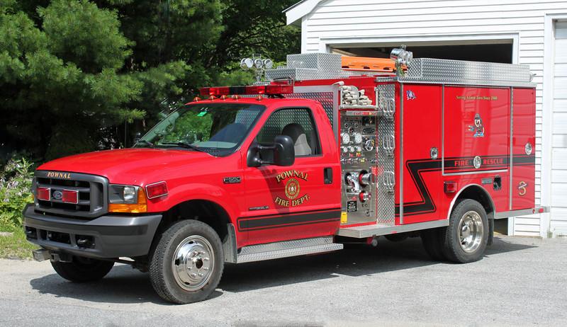 Squad 3 2000 Ford F-550 / Metalfab 250/300 (Ex-Gardiner Maine)