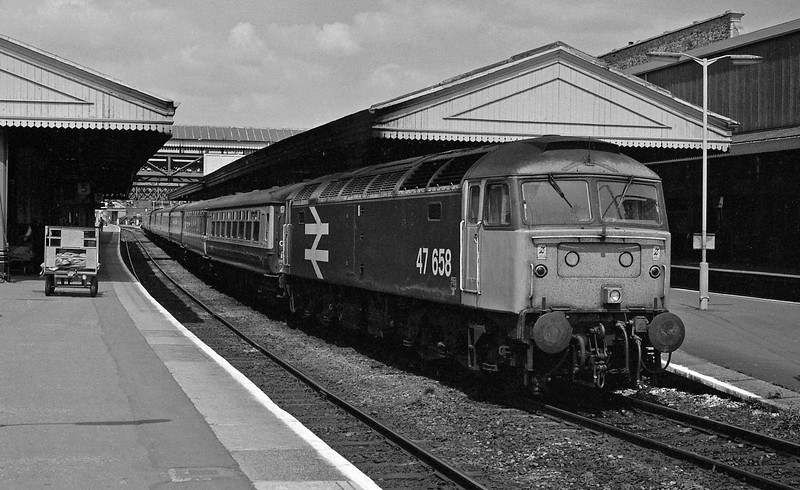 47658, down passenger, Exeter St David's.