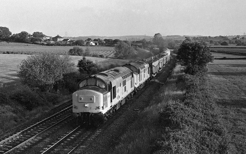 37670/37672, up freight, Willand, near Tiverton.
