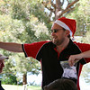 "John ""Santa"" Waldock spreads the cheer"