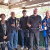 The winners: Liz & Mike Williams (second place), guests Daniel and Reefe Brighton (third) and Stan Rimon (minus Linda and Don Nicoll) took out the big one.