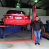 Noel Heritage with his and Robert Downes' trusty old NA getting some attention