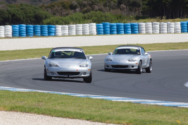 Silver NBs battle it out ... Noel Heritage and Peter Phillips