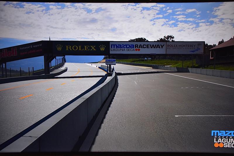The Laguna Seca track on the simulator