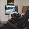 The simulator, featuring the Laguna Seca track in California