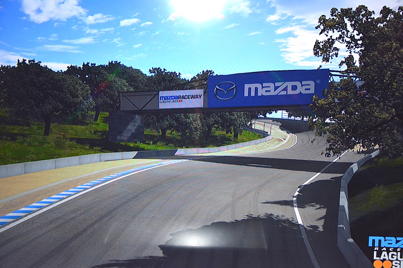 The Laguna Seca track on the simulator