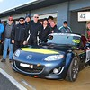 Team MX-5 Racers (l-r): Rob Hart, Alan Senior, Tim Meaden, Alan Conrad, Gavin Newman, Randy Stagno Navarra, Noel Heritage, Paul Ledwith, Peter Stagno Navarra and Scott Baille.