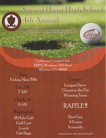 4TH ANNUAL GOLF TOURNAMENT @ CALIFORNIA COUNTRY CLUB • 05.29.15