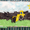 The DPW art show was held at the Fitchburg Public Library on Tuesday afternoon. Local students were encouraged to submit drawings and painting depicting the trucks as seen at DPW Day. SENTINEL & ENTERPRISE / Ashley Green