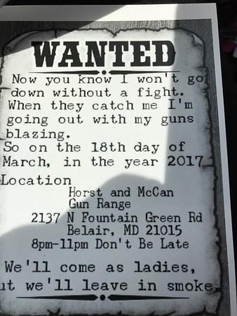Ksisha's Bridal Shower @ Horst & McCan Gun Range 3.18.17