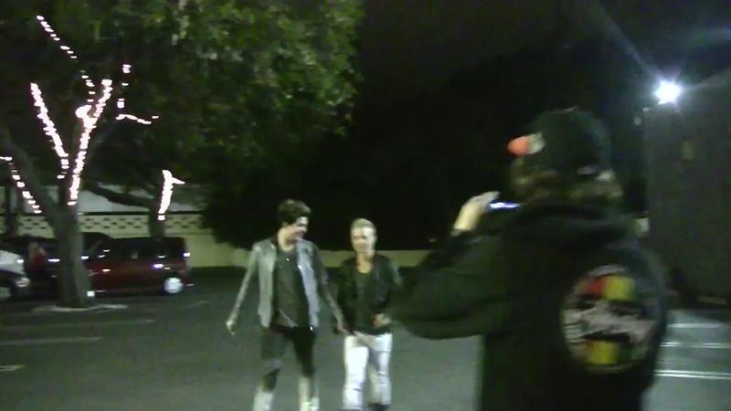 Adam Lambert & Sauli Koskinen leaving Voyuer nightclub in Hollywood (May 21 2011)