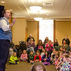 Andrew Pinard brought his traveling show, Alejandro's Old Tyme Magik Showe to the Leominster Public Library on Tuesday afternoon to entertain kids during April vacation. SENTINEL & ENTERPRISE / Ashley Green