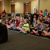 Many visited Leominster Public Library on Friday morning to see Jedi Jim's, aka Jim Manning, show based on the Movie franchise Star Wars. SENTINEL & ENTERPRISE/JOHN LOVE