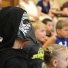 Nico Vicioso, 8, of Leominster dressed up as Kylo Ren when he visited Leominster Public Library on Friday morning to see Jedi Jim's, aka Jim Manning, show based on the Movie franchise Star Wars. SENTINEL & ENTERPRISE/JOHN LOVE