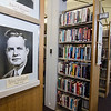 Mayoral portraits can be seen hanging at the Fitchburg Public Library on Thursday afternoon during a gallery opening of Fitchburg's mayoral portraits. SENTINEL & ENTERPRISE / Ashley Green