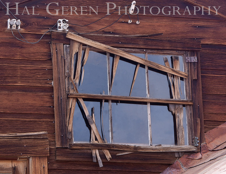 Telegraph Office Window<br /> Bodie, California<br /> 1005T-WT1