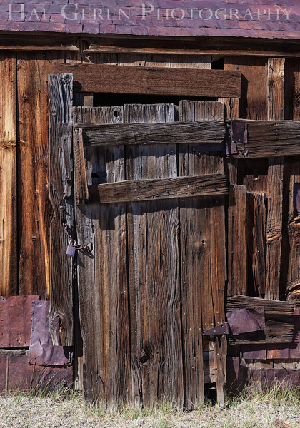 Patchwork Door<br /> Bodie, California<br /> 1207B-D4