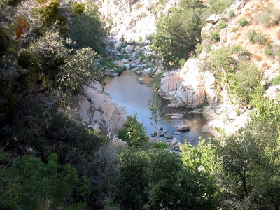 There are many great swimming holes all along Deep Creek