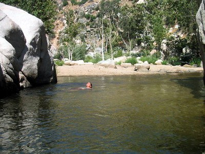 Gilligan's Island is one of the best swimming holes in Deep Creek
