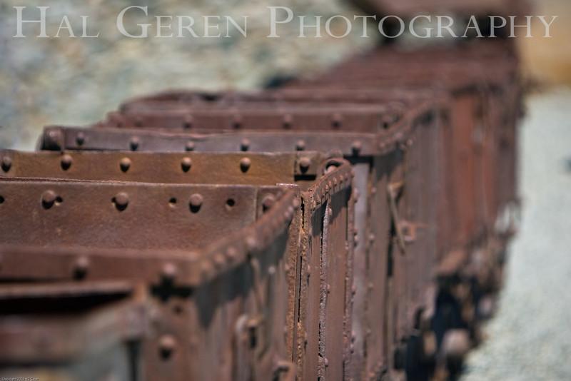 Ore Carts<br /> Empire Mine, Nevada City, California<br /> 0806E-OC1