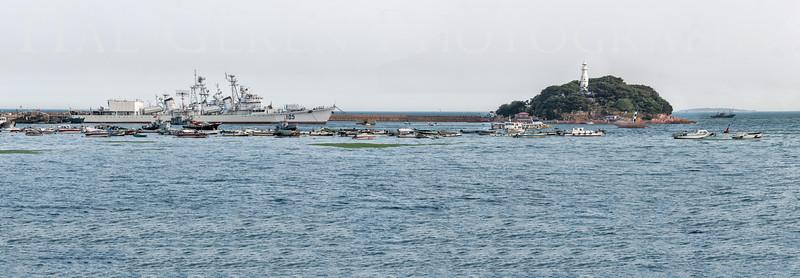 Qingdao Naval Museum Destroyer and Qingdao Lighthouse Qingdao, China 1406C-QNPP2