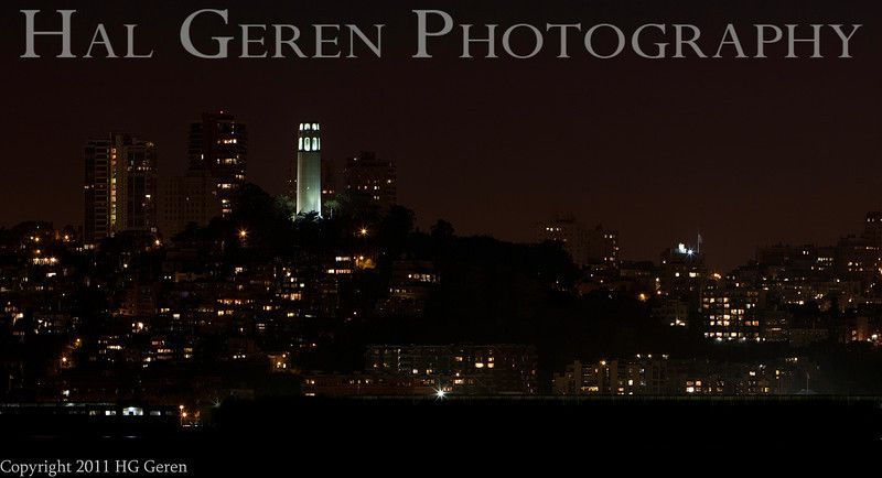 Coit Tower from Treasure Island<br /> San Francisco, California<br /> 1109SF-CT1
