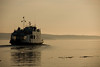 Ferry leaving for Alert Bay.-  Early morning - Port McNeill.