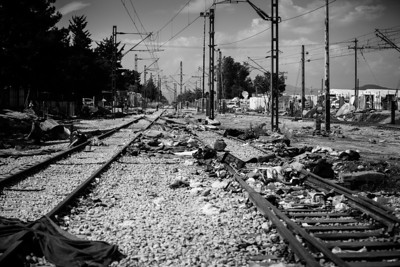 Emptiness where once lived thousands.  Idomeni, Greece, May 2016.