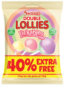 80202 Lickables Double Lollies p40pc Bag
