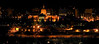 The Alberta Legislature at night - panorama