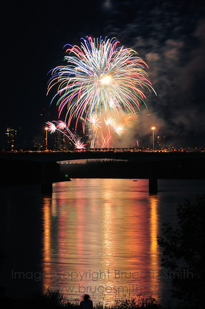 Multicolor Canada Day Fireworks