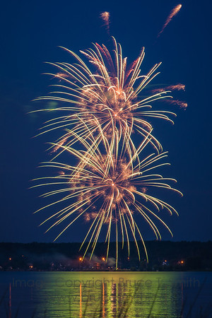Magnificent fireworks over Alberta Beach for the Canada Day weekend, 2013.