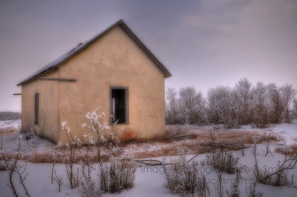 Abandoned Building in the Snow