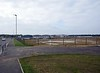 Hitachi Rail Europe assembly plant, Newton Aycliffe, Tues 26 September 2017 1.  A general view of the plant, looking west.  The trains seen in subsequent photos are in the distance at right.