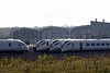 Hitachi Rail Europe assembly plant, Newton Aycliffe, Tues 26 September 2017 4.  800025 is at left.  The other GWML five-car bi-mode IETs at right are unnumbered.