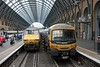 365505 (+ 365539) & 82227, King's Cross, Mon 13 July 2015 - 1201.  Platforms 1 (right) and 2.