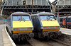 GNER line-up, King's Cross, 24 November 2007 3 - 1405    91131 County of Northumberland (left) & 911xx,
